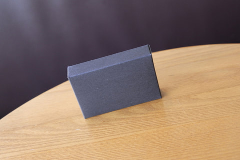 picture of a gray box on a table